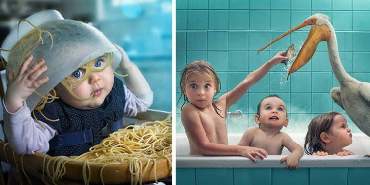 Pai apaixonado por fotografia usa os quatro filhos como modelos para produzir imagens adoráveis